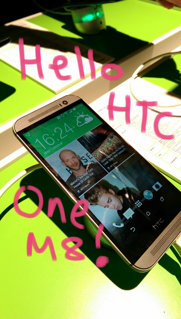 HTC One M8 photo with writing