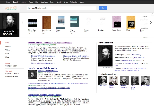 """Herman Melville books"" Google search"