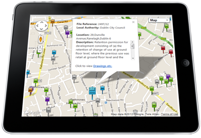 Planning data for Ranelagh in Dublin using Buildingeye's geo-location technology