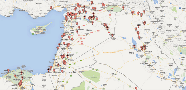 ISIS-locations