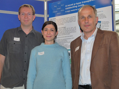 Prof Igor Shvets (right) with Dr Karsten Fleischer and PhD student Elisabetta Arca