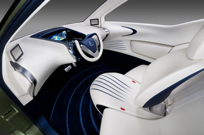 Interior of the Nissan PIVO 3 Concept EV