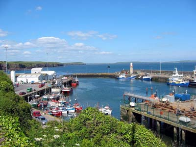 Dunmore East Harbour in Co Waterford, Ireland