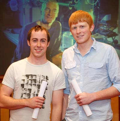University of Limerick graduates Chris Murphy and Ronan Leahy. Murphy won Best of Irish in the 2011 James Dyson Award for his 'Open Pool Transfer' invention. Leahy made the