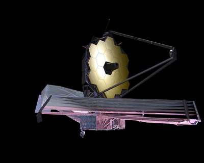 Artist's conception of the James Webb Space Telescope. Image credit: NASA