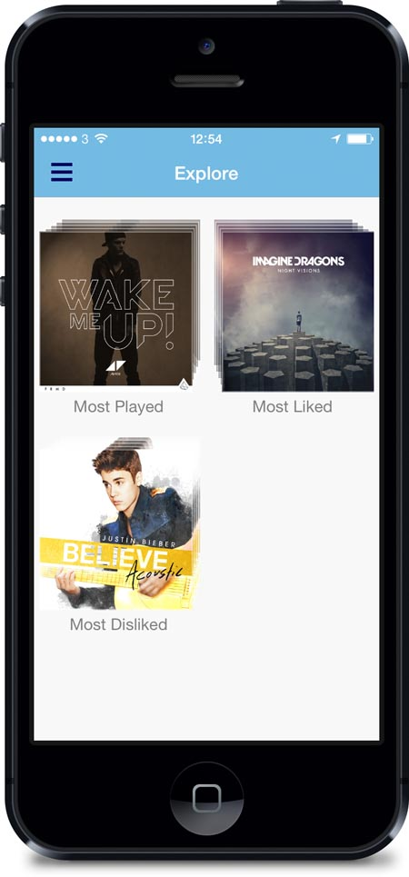 Justin Bieber on Soundwave app