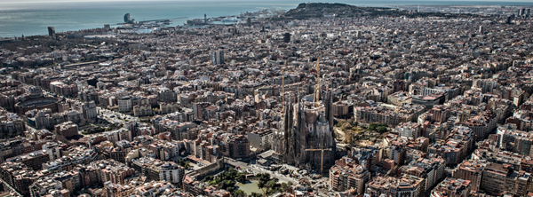 Aerial view of the Basílica de la Sagrada Família in Barcelona, Spain. Credit: Facebook page Basílica de la Sagrada Família