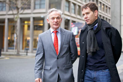 Ireland's Minister for Jobs, Enterprise and Innovation, Richard Bruton, TD, pictured in Dublin City with Rony Cahan, co-founder of Indeed.com