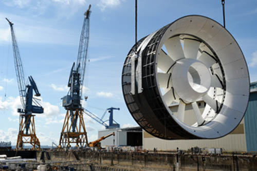 OpenHydro tidal turbine for offshore tidal installation France