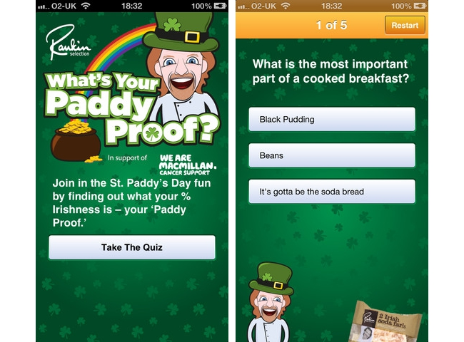 Paddy Proof app screens