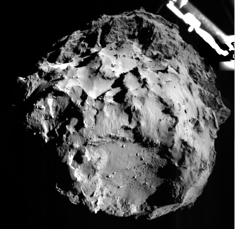 Comet 67P, 3km from Philae