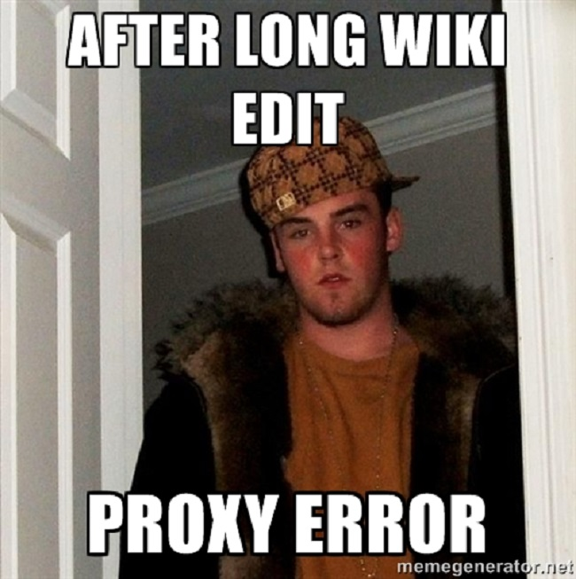 Proxy error with Wikipedia