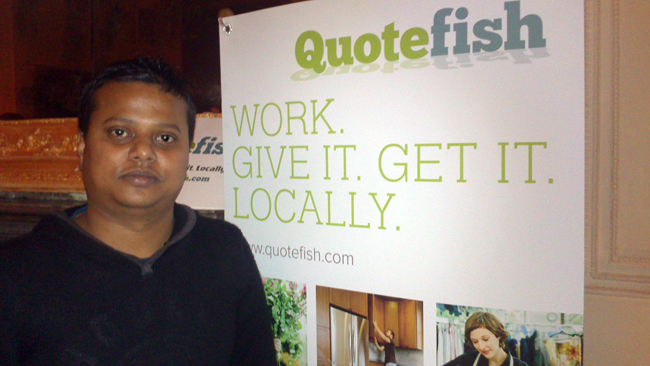 Qaseem Alam, developer at the Wicklow-based start-up QuoteFish
