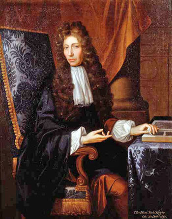 Portrait of Robert Boyle, by Johann Kerseboom, c.1689. On display at Historical Portraits in Dover Street, London. Image via Wikimedia Commons