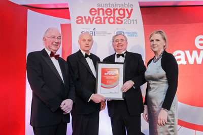 Brendan Halligan, chairman, SEAI; Sean McAdam O'Connell, IAA; Minister for Communications, Energy and Natural Resources, Pat Rabbitte TD; Brid Horan, executive director, ESB Electric Ireland