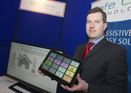 Conor Quigley of Safe Care Technologies, which won 'Most Innovative Business' award
