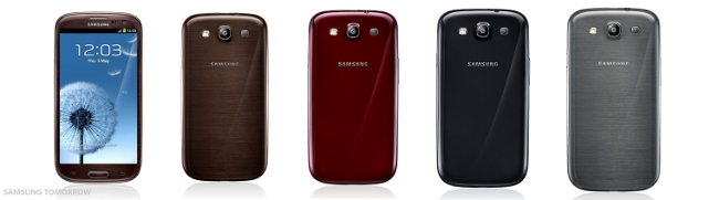 New Samsung Galaxy S III colour options