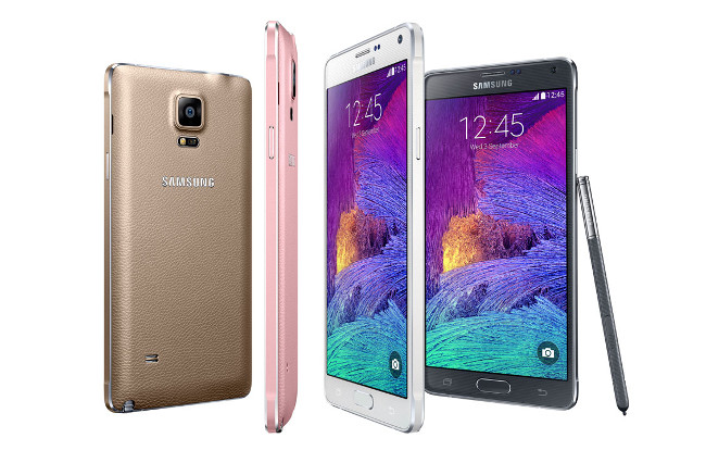Samsung Galaxy Note 4 colour range