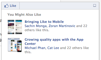 Facebook recommendations bar