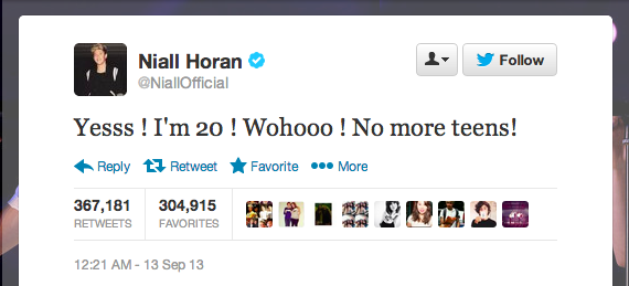 Niall Horan One Direction tweet