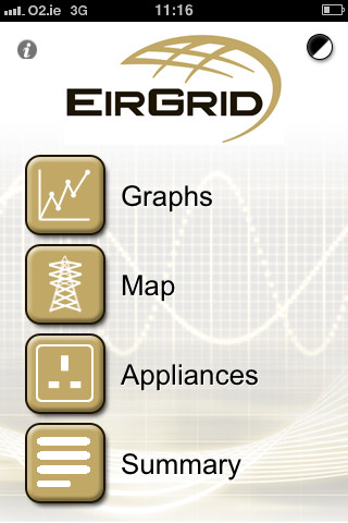 EirGrid New SmartGrid version 1.1 - free for people to download for the iPhone