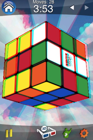 rubiks cube 3d mode iphone app screenshot