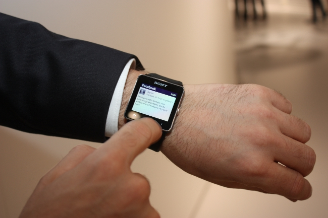 The Sony SmartWatch 2 in action at IFA 2013