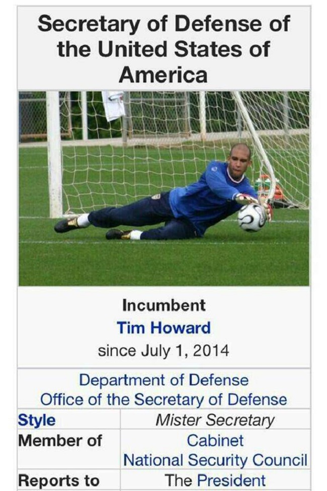 Tim Howard at the World Cup Wiki page