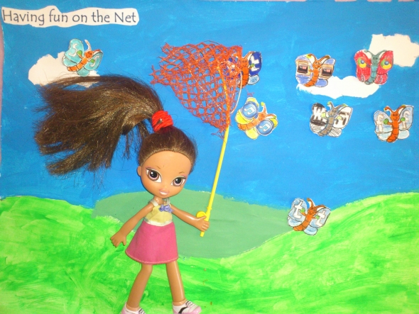 'Having fun on the Net' by Niamh Cronin, Cork, winner of the Age 8 to 11 Poster category