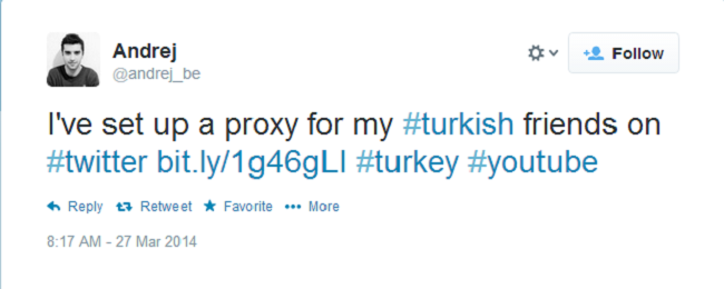 Turkish proxy tweet