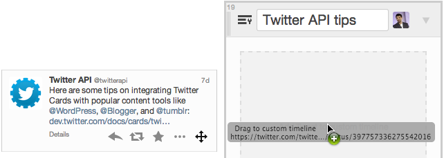 TweetDeck custom timelines drag and drop