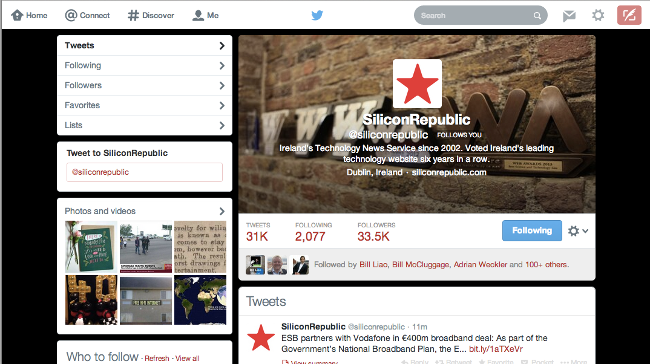 Twitter profile - Silicon Republic