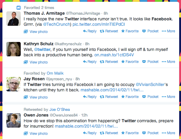 Twitter redesign reactions