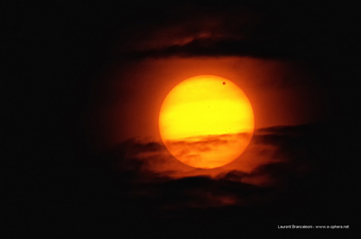 Flickr user Laures 73 from www.e-sphera.net uploaded this image of the Venus transit onto the NASA Flickr photostream this am. The photo of the transit was captured in Rosheim in France this morning (6 June 2012)