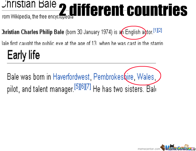 Wales fail on Wikipedia