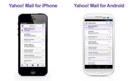 Yahoo! Mail apps for Android and iPhone