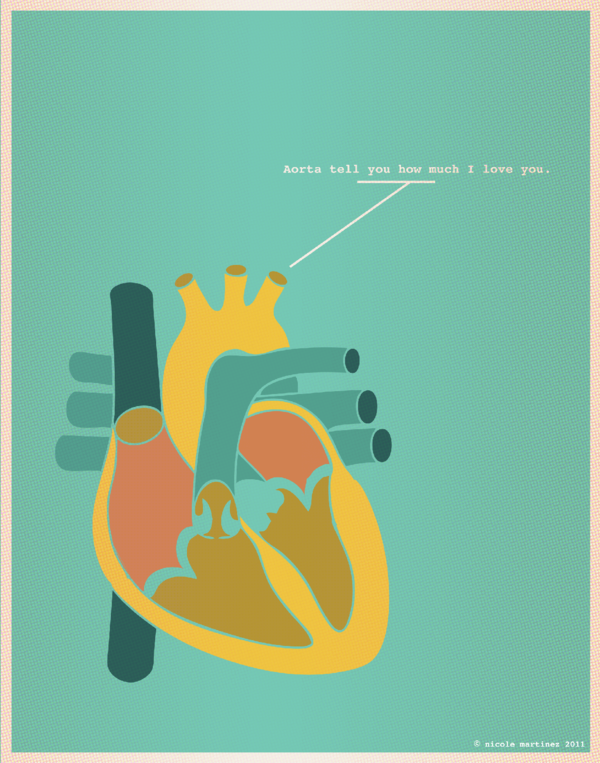 Valentine's Day illustrations by Nerdy Dirty