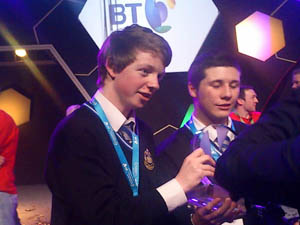 Mark Kelly and Eric Doyle won the 2012 BY Young Scientist & Technology Exhibition