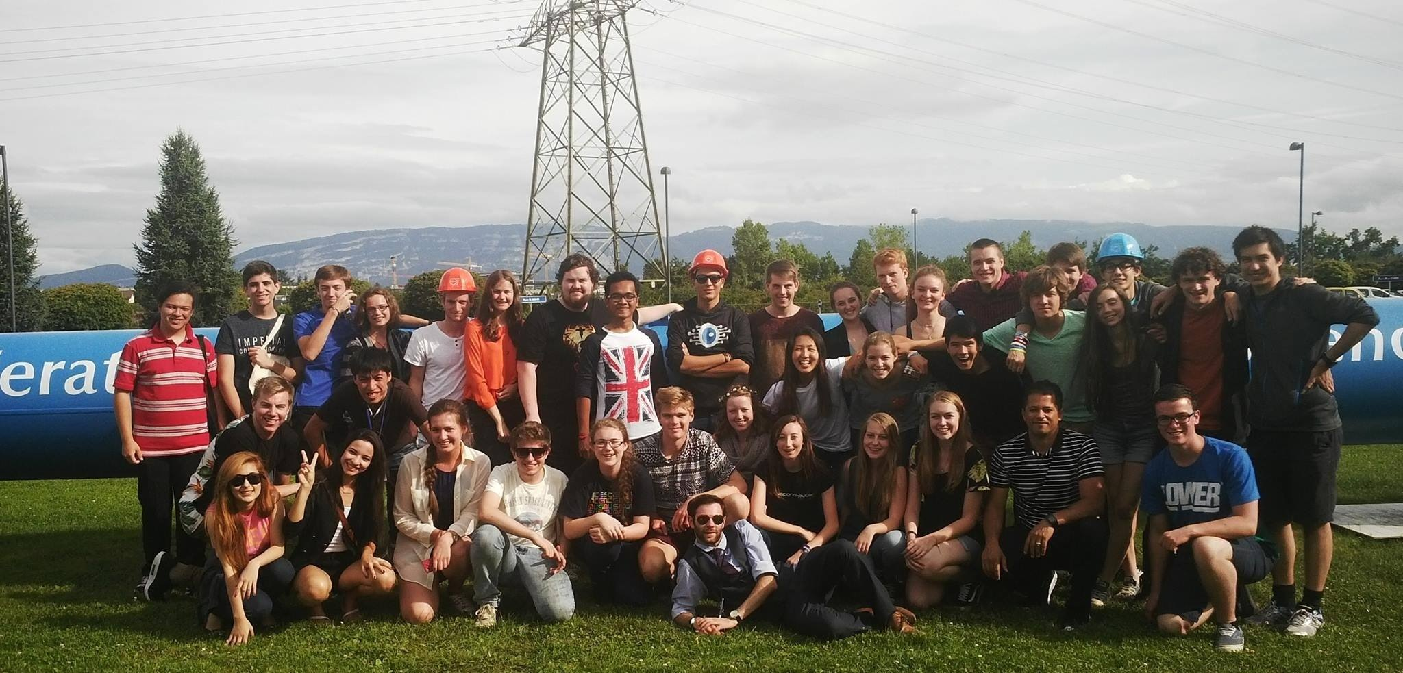 Young scientist tour group at CERN