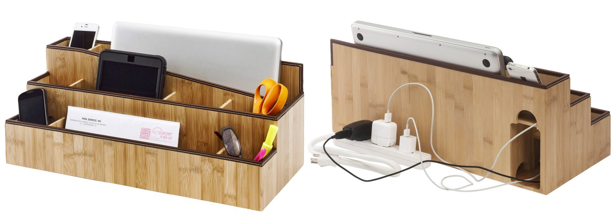 Desk organiser and charging station