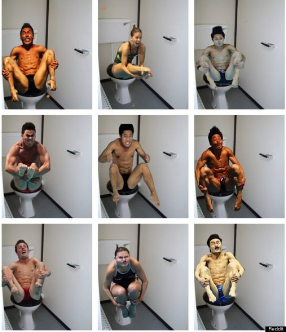 Olympic divers on toilet (by Redditor Smokey95)