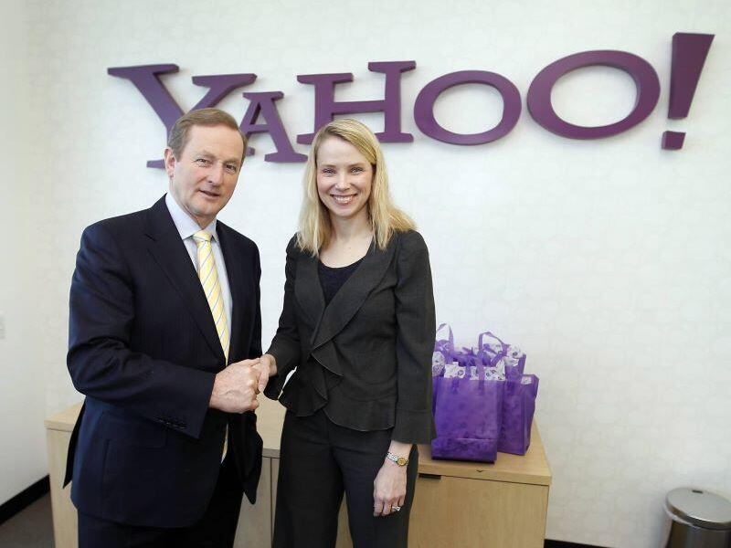 Enda Kenny and Marissa Mayer