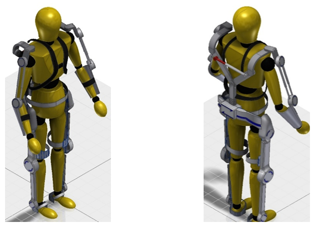 AXO-SUIT project exoskeleton render