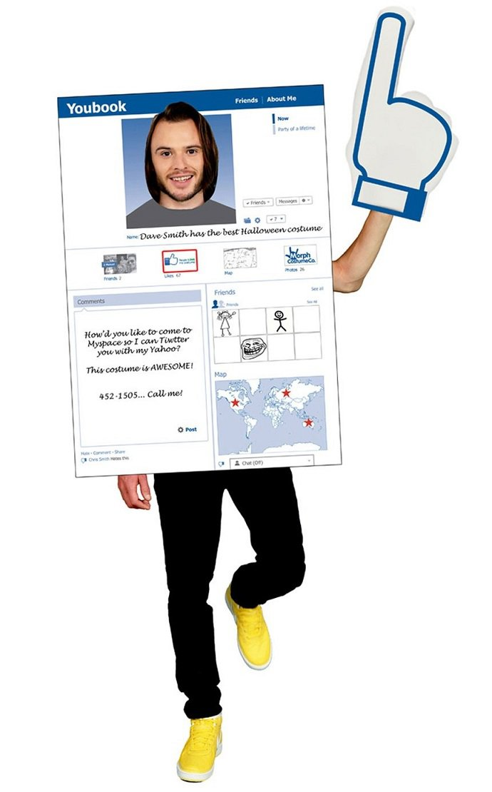 Facebook Halloween costume