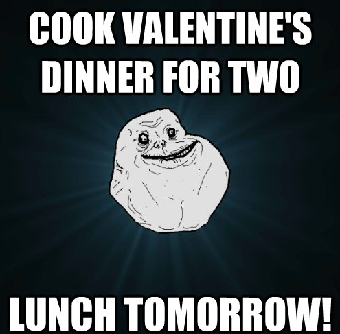 Valentine's Day memes - Forever Alone