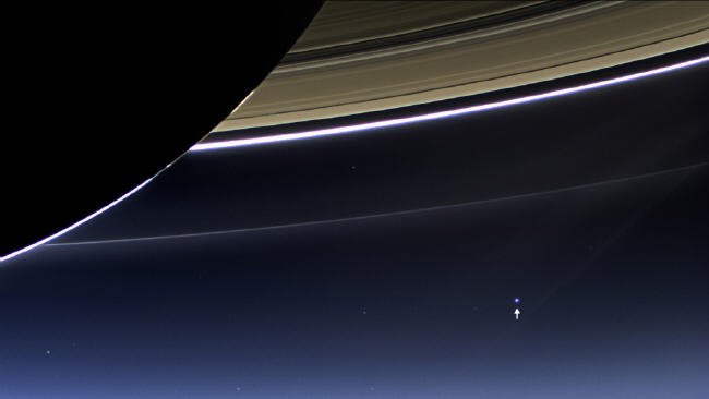 Cassini shot of Earth and moon