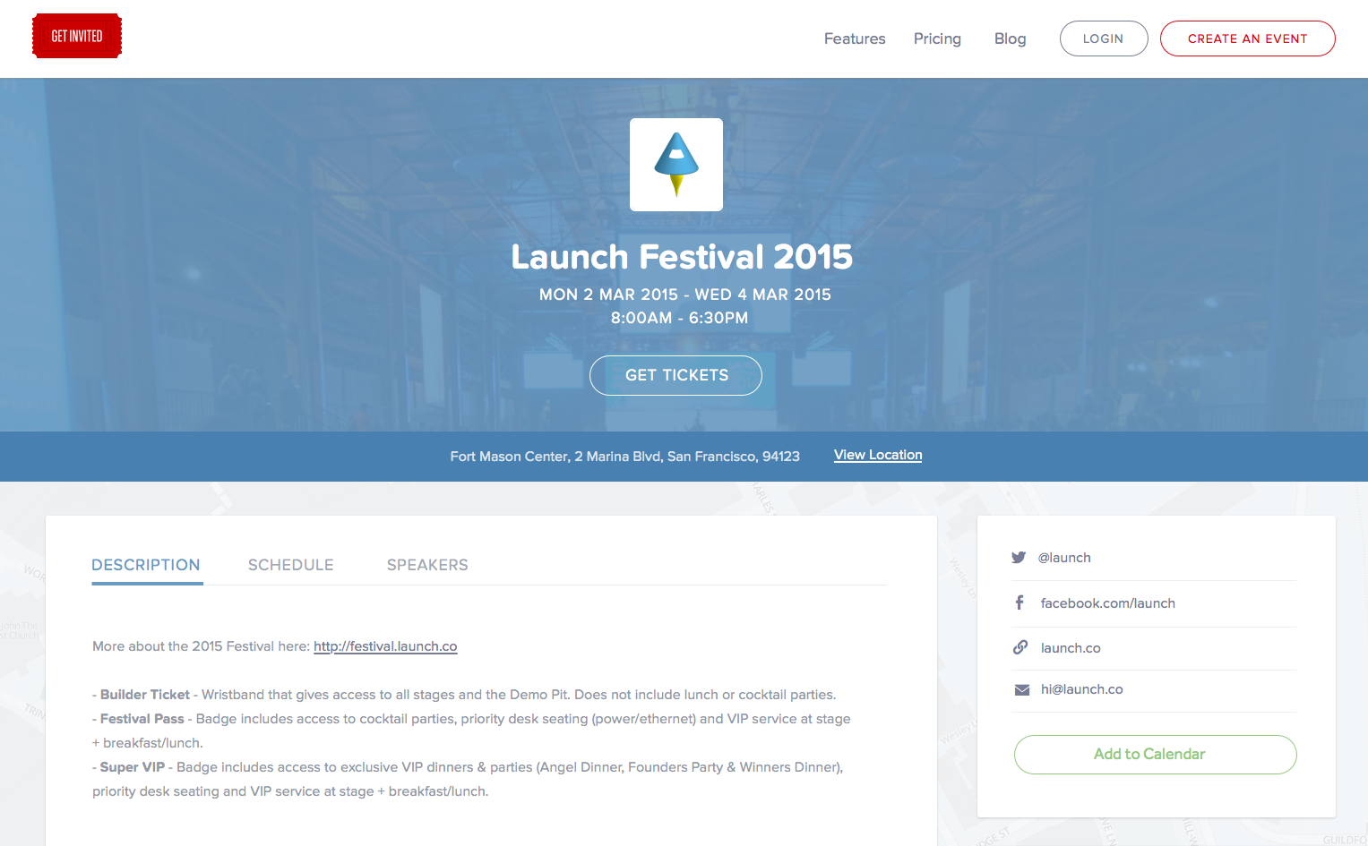 Get Invited - Launch Festival