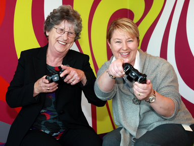 Gamer Pauline O'Connor, pictured with her daughter, Aine, having won the overall award in the 2012 Silver Surfer contest. Photo by Conor Healy Photography