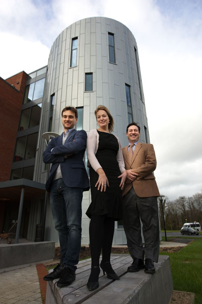 Andrei Lagunov, CFO, iTRAC Global, Andrea Deverell, Nexus Innovation Centre manager, Tony Leto, CEO/president of iTRAC Global, pictured at the Nexus Innovation Centre at University of Limerick