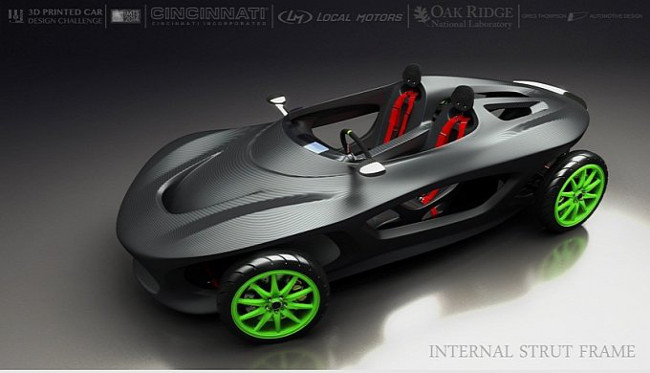 ISF 3D-printed car concept